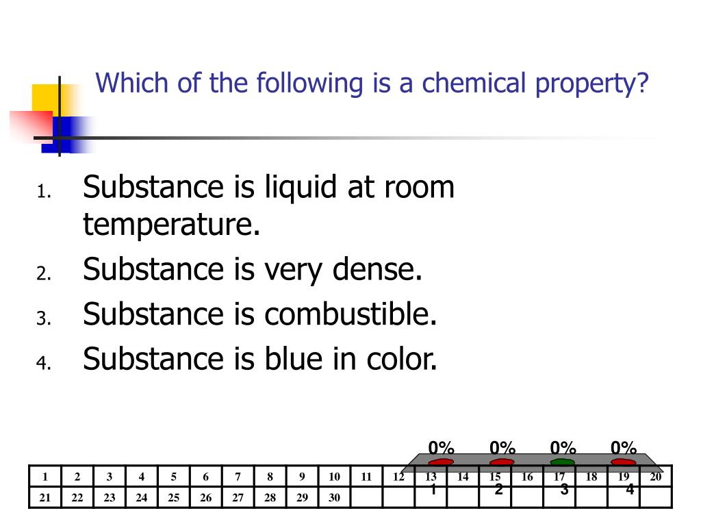 Which of the following is a chemical property?