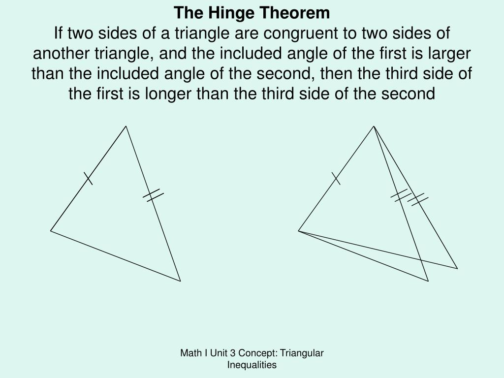The Hinge Theorem
