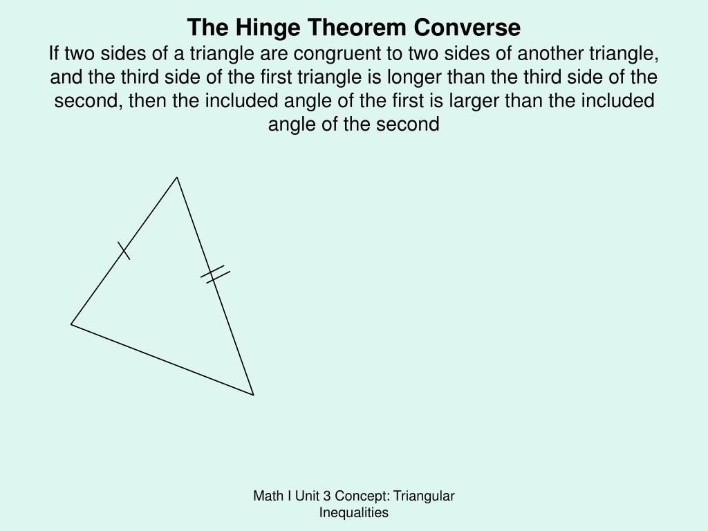 The Hinge Theorem Converse