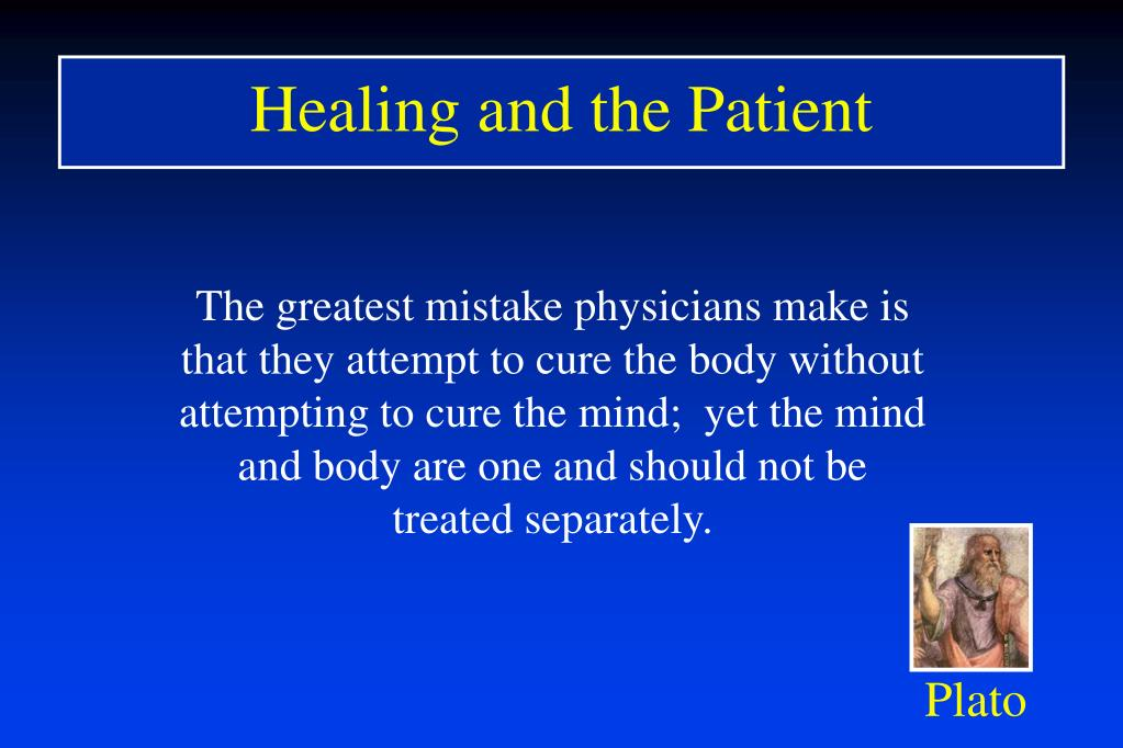 Healing and the Patient