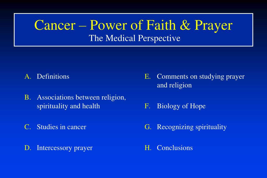 Cancer – Power of Faith & Prayer