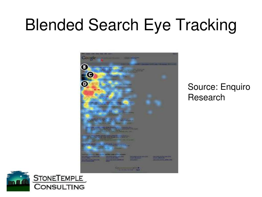 Blended Search Eye Tracking