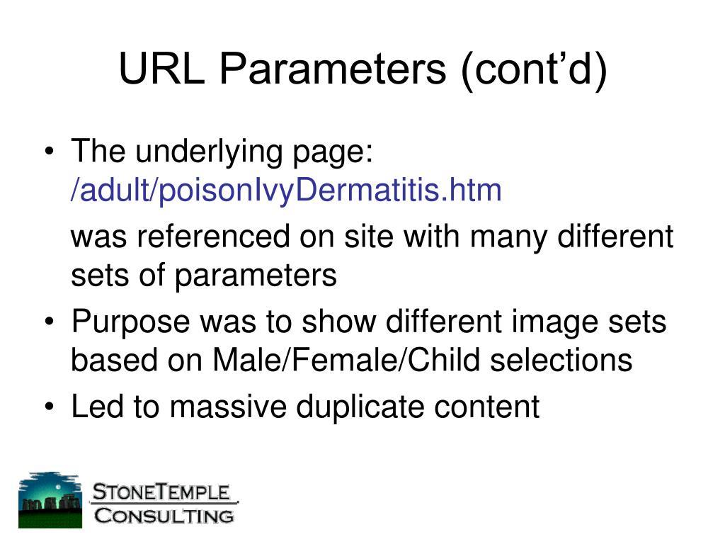 URL Parameters (cont'd)