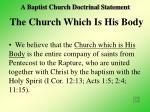 a baptist church doctrinal statement
