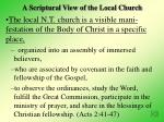 a scriptural view of the local church