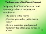 the importance of the church covenant