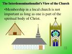 the interdenominationalist s view of the church19