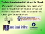 the interdenominationalist s view of the church20