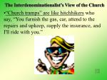 the interdenominationalist s view of the church22