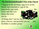 the interdenominationalist s view of the church23
