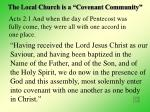 the local church is a covenant community