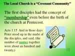 the local church is a covenant community26
