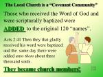 the local church is a covenant community27