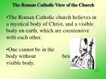 the roman catholic view of the church