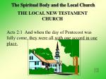 the spiritual body and the local church5