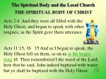 the spiritual body and the local church6
