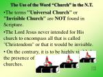 the use of the word church in the n t11