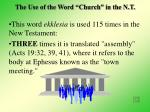 the use of the word church in the n t8