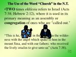 the use of the word church in the n t9