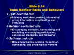 slide 8 14 team member roles and behaviors