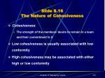 slide 8 16 the nature of cohesiveness