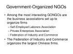 government organized ngos