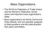 mass organizations15
