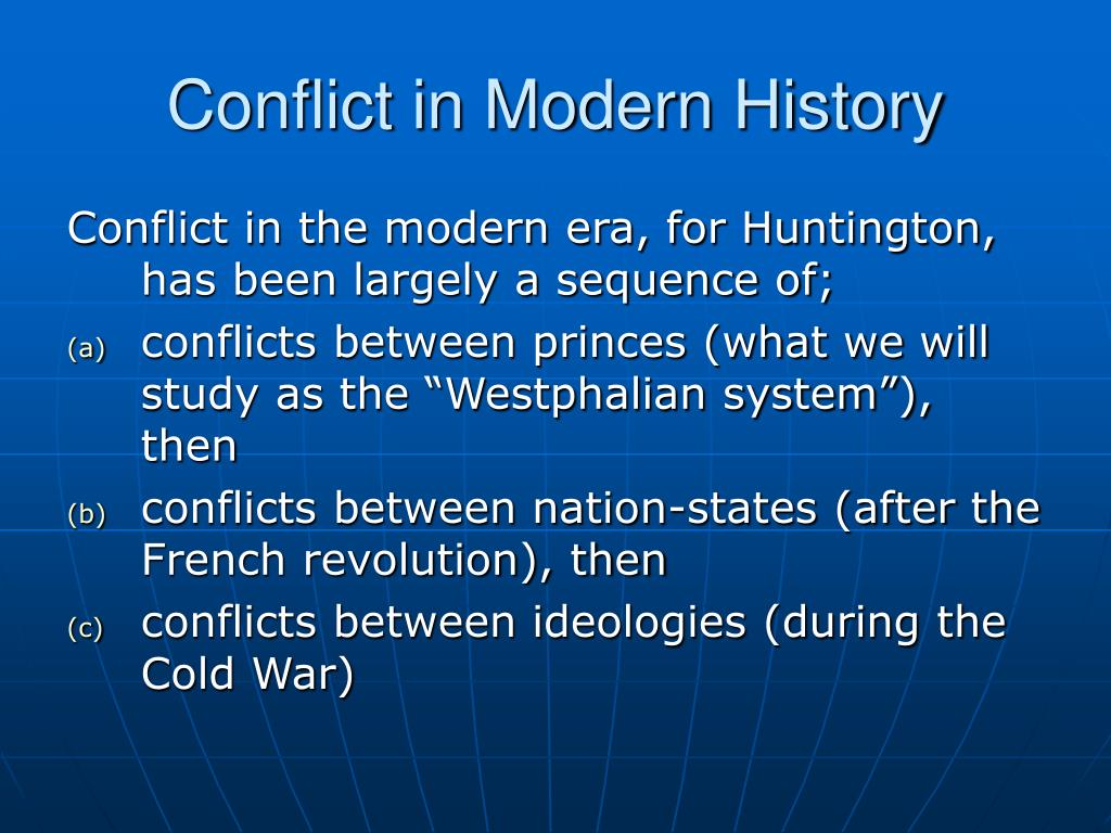 Conflict in Modern History