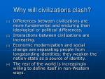 why will civilizations clash