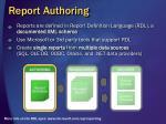 report authoring