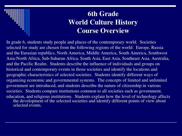 6th grade world culture history course overview l.jpg