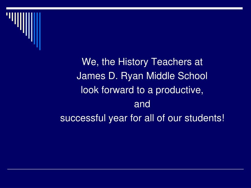 We, the History Teachers at