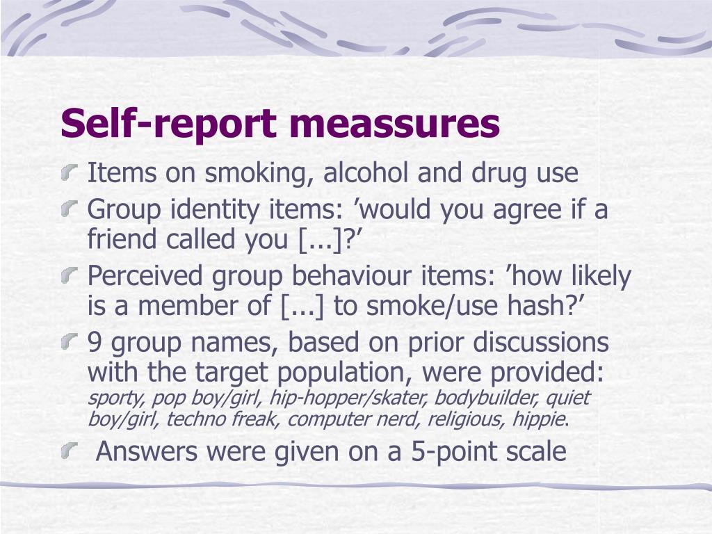 Self-report meassures