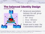 the balanced identity design greenwald et al 2002