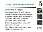 country trends indonesia continued