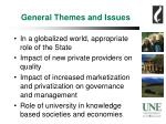general themes and issues