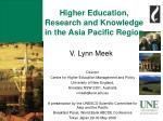 higher education research and knowledge in the asia pacific region