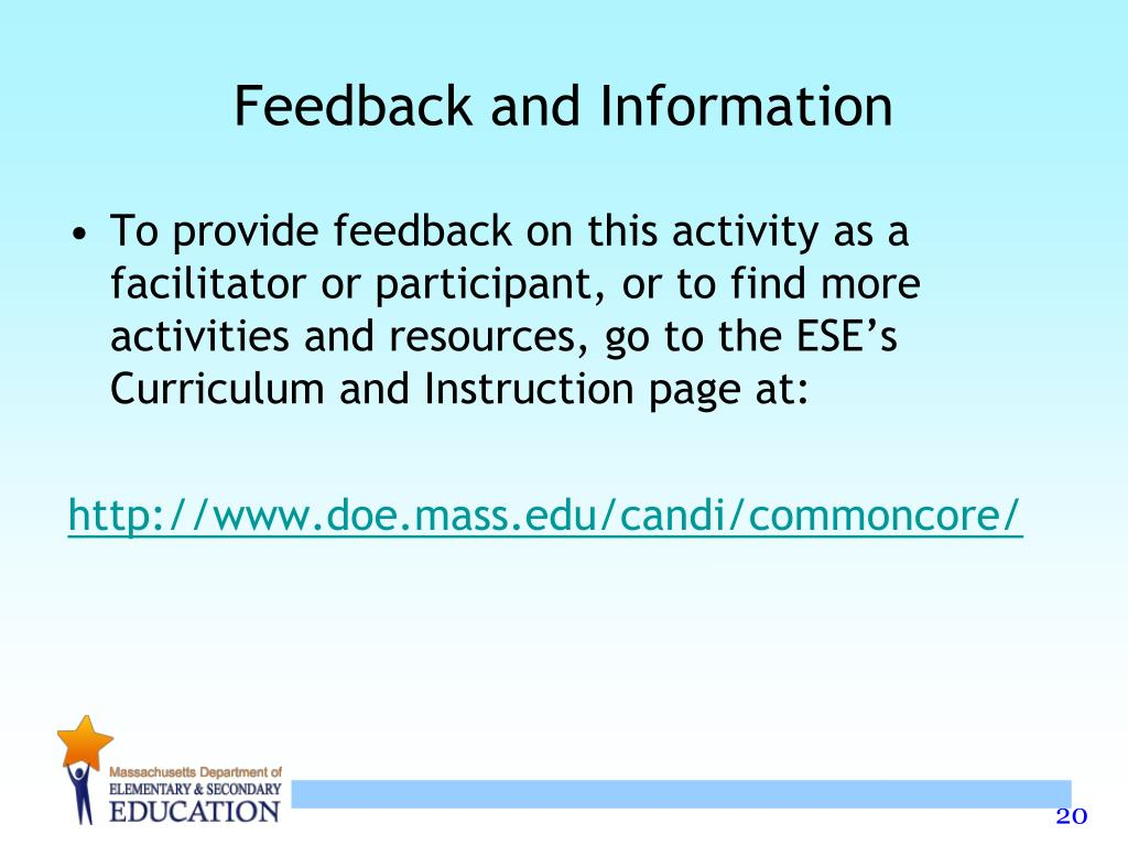 Feedback and Information