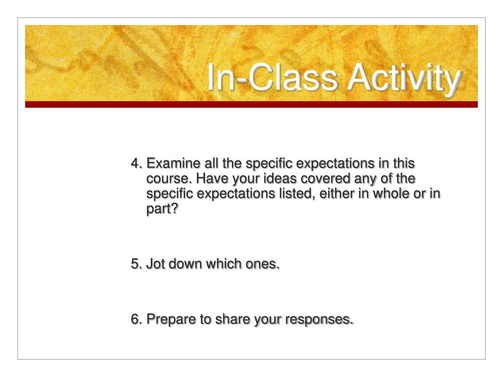 In-Class Activity
