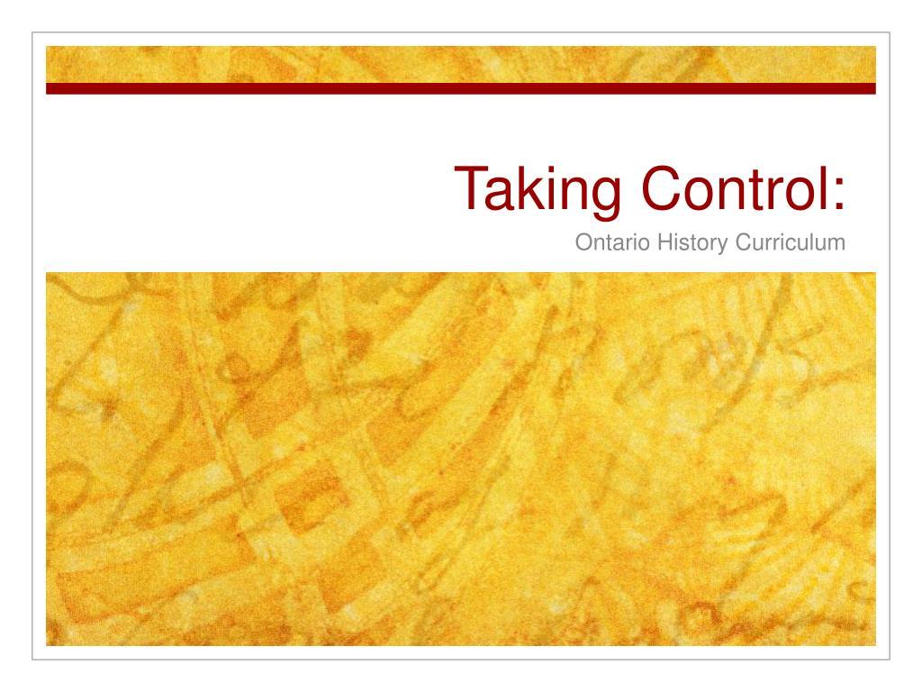 Taking Control: