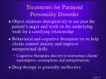 treatments for paranoid personality disorder16