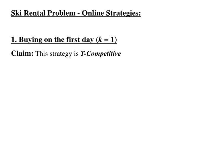 Ski Rental Problem - Online Strategies: