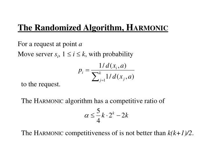 The Randomized Algorithm,