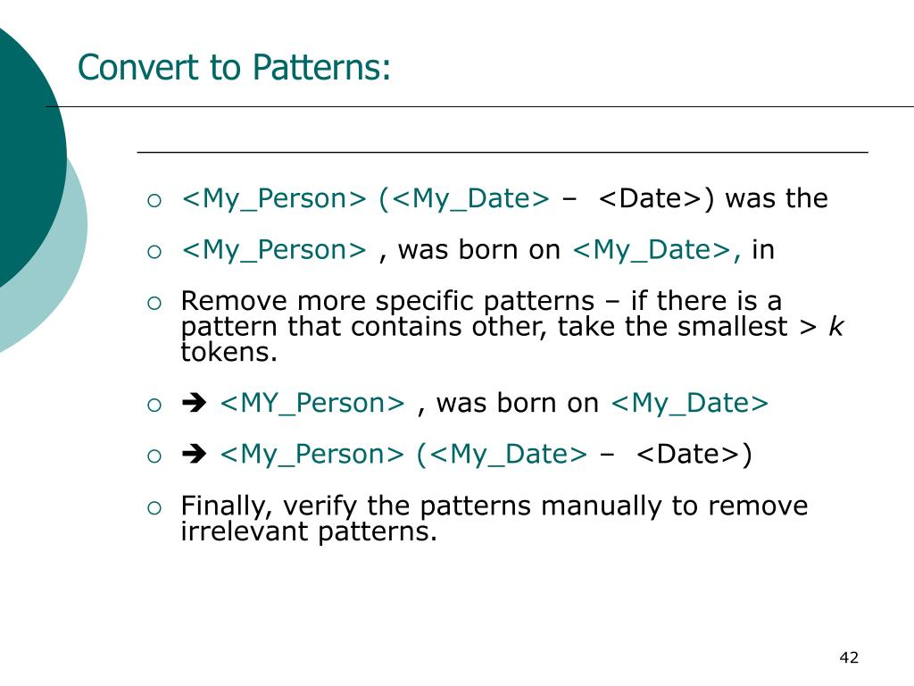 Convert to Patterns:
