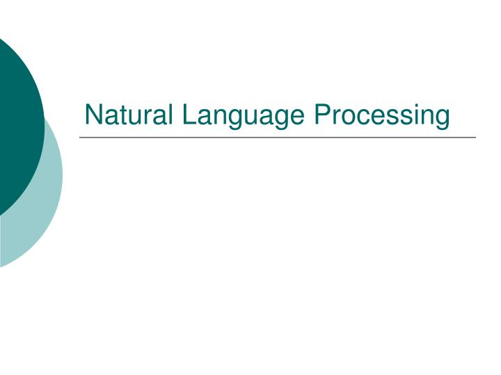 Natural language processing l.jpg