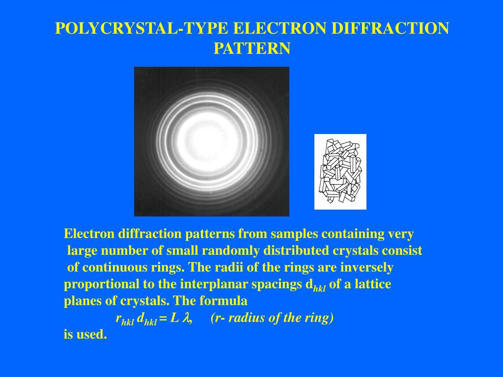 POLYCRYSTAL-TYPE ELECTRON DIFFRACTION PATTERN