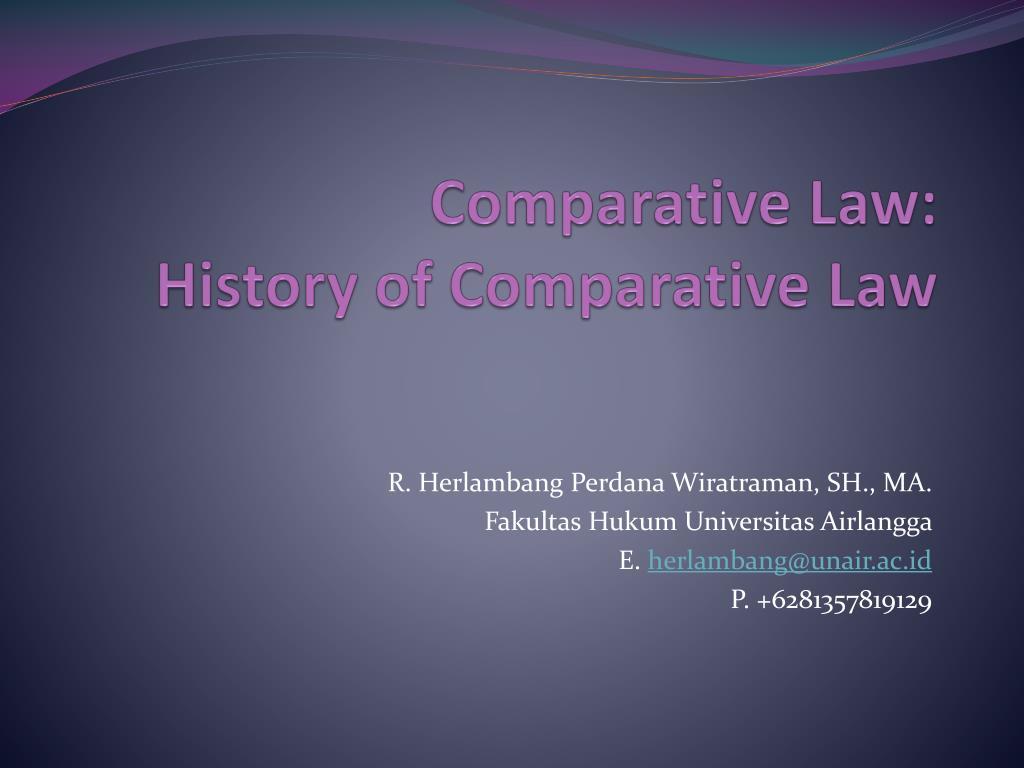 Comparative Law:
