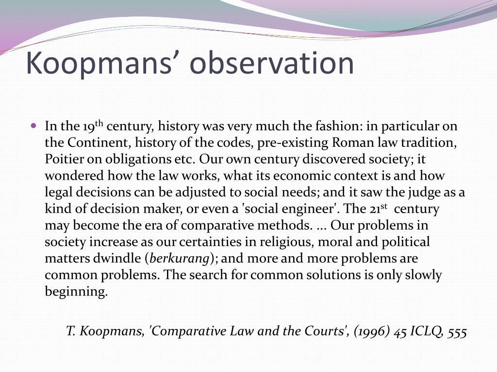 Koopmans' observation