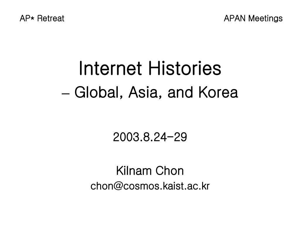 internet histories global asia and korea