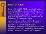 impact of arsi